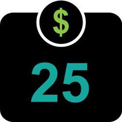 $25 Declining Balance Dollars